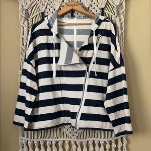 LOFT cropped sailor jacket